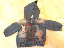 Новая джинсовая курточка Глория Джинс 3-6м