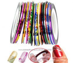 Лента для дизайна ногтей разноцветная