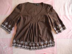 Блуза, блузка льняная для беременной М