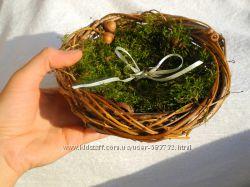 Гнездо для колец для свадьбы - альтернатива подушечкам
