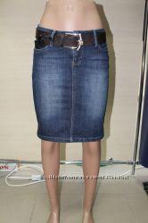 качественные джинсовые юбки со стразами Сваровски Dolce & Gabbana и We She