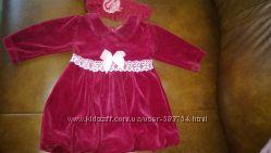 Шикарное праздничное бархатное  платье