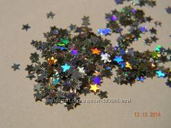 Декор блестка звездочка и шестиугольник
