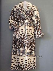 Скидка  теплые женские халатики с воротничком