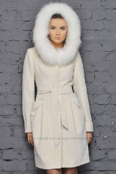 Пальто зимнее Фризман утепленное с мехом р. S