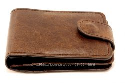 Кожаный кошелек барсетка визитница