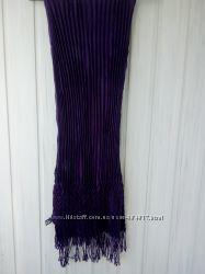 Фиолетовый шарф