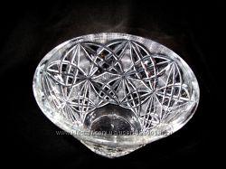 Ваза хрустальная Салатница круглая высокая конус диаметр 20 см