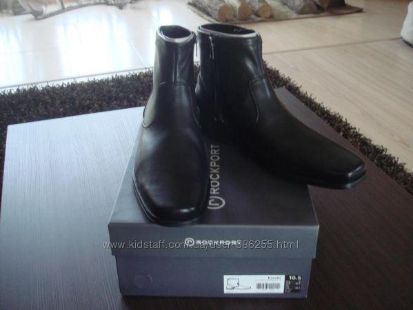 Кожаные новые мужские ботинки Rockport р-р 10, 5 USA, 43, 5 наш,  в наличи