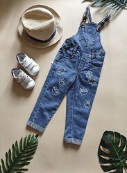 Джинсовый комбинезон на подтяжках, комбез джинсовый, полукомбез джинсовый