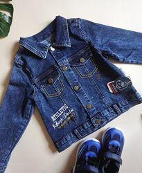 Джинсовый пиджак на мальчика на 5,6,7,8 лет
