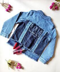 Бомбезная джинсовка на девочку на 6,7,8,9 лет турция, супер качество