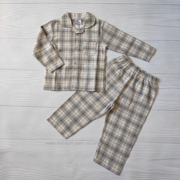 Детская пижама на пуговицах, пижама рубашка и штаны