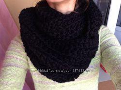 Красивый стильный шарф-хомут, снуд ручной работы