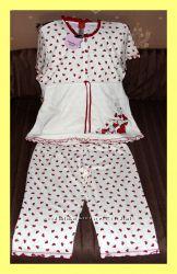 Пижама в сердечко ТМ Vienetta Secret Турция, размер 52-54