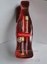 Набор бальзамов для губ Lip Smacker Coca Cola Holiday Tin, 4шт