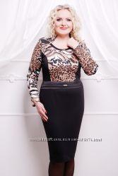 Платье отличного качества р. 52 Визуально стройнит