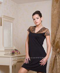 Красивая ночная рубашечка с гипюровыми вставками р. 2ХЛ