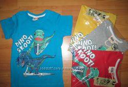 Оригинальные красочные футболки маленькому моднику р. 98 -116