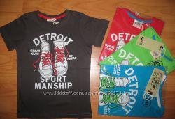 Оригинальные красочные футболки  моднику р. 98 -122