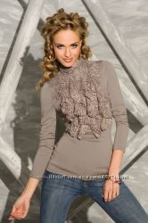 Привлекательная блуза кофейного цвета р. ХХЛ 50-52 Польша