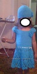 вязанное платьице летнее