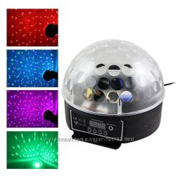 Светомузыка диско шар лазер RGB DMX Magic Ball