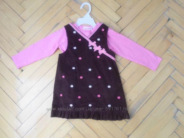 Платье вельветовое  бодик на 18 - 24 мес.