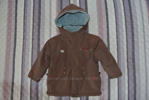 Куртка демисезонная на флисе с утеплителем OBAIBI Франция, р. 18-24мес.