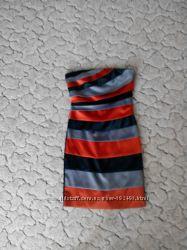 платье разноцветное атласное