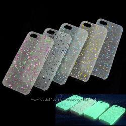 Ультратонкие светящиеся в темноте чехлы для IPHONE 5 5s