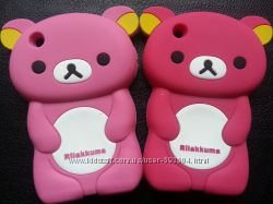 Чехол для Iphone 3, 3S мишка силиконовый Два цвета