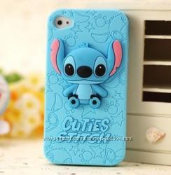 Чехол голубой Ститч для Iphone 4 и 4S