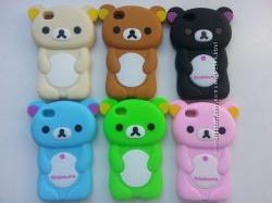 Чехол для Iphone 4 и 4S. Цвета-коричневый, розовый, голубой
