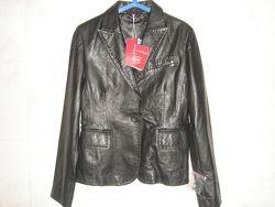 Новая стильная курточка пиджак из натуральной кожи
