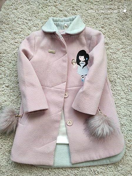 Шикарное пальто для девочки 3-4годика