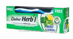 Зубная паста Dabur Мята и лимон  зубная щётка 150 г