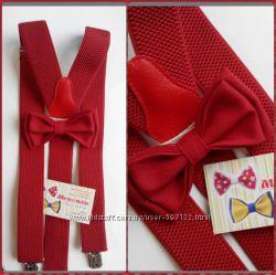 мужские подтяжки и бабочки-галстуки