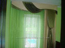 Пошив штор, гардин, домашнего текстиля, текстильное декорирование .