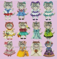 Термопереводные рисунки кошки-модницы