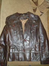 Продам кожаную куртку пиджак