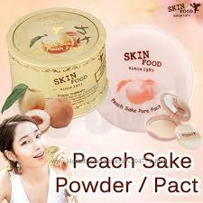 Компактная и рассыпчатая пудры Peach Sake от Skinfood