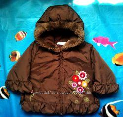 Куртка утеплённая с вышивкой для девочки