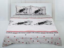 Комплект постельного белья Коты, с подростковым.