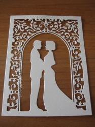 Вырубка свадебная для пригласительных