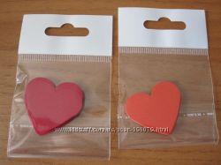 Сердечки  бумажные для скрапбукинга
