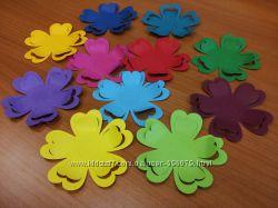 Бабочки, цветочки цветные бумажные