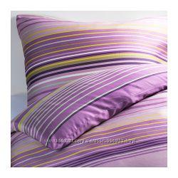 Постельный комплект ИКЕА Палмлилья, фиолетовый, евро
