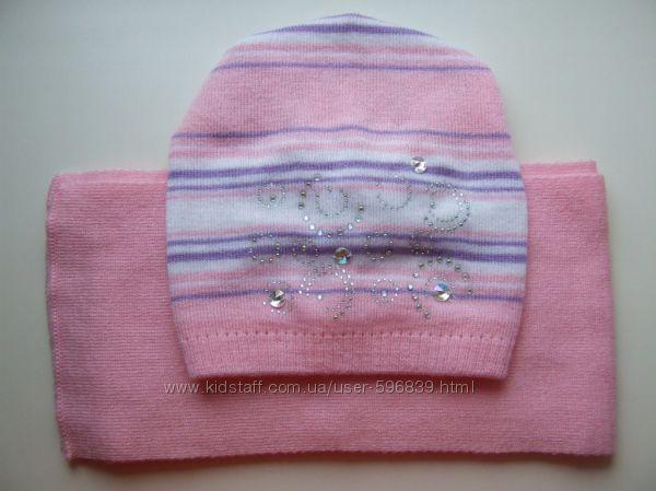 Деми шапочка с шарфиком