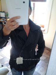 Куртка кожаная Италия с поясом р. S украинский 44 Новая